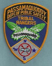 PASSAMAQUODDY TRIBAL RANGERS MAINE POLICE PATCH