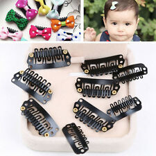 50Pcs 28mm Black U Shape Snap Metal Clips For Hair Extensions Weft Clip-on WB