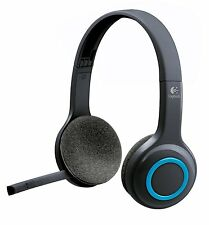 Logitech 981-000341 H600 Headset - Stereo - Wireless - 32.8 ft - Blue, Black