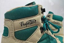 Vintage VASQUE Women's Teal Hiking Trail Moutaineering Boots shoes LOOK