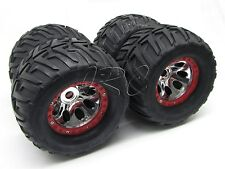 Nitro Mad Force Kruiser WHEELS & TIRES kyosho 17mm (set 4 NEW Red 2.0 KYO31229B