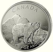 Canadá 2011 Grizzly 5 dólares Canadian Wildlife serie 2. edición 1 onza de plata