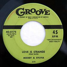 HEAR Mickey & Sylvia 45 Love Is Strange/Going Home GROOVE 0175 soul doo wop NM