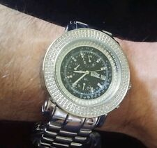 Men's 225-Diamond $3,850.00 Chronograph Stainless Steel Freeze Watch