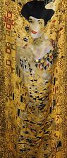 Price Drop Museum Collection 100% Silk Klimt Handrolled Edge Long Scarf NWT!