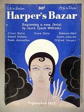 Harper's Bazar - September, 1927 ~~ Erte cover ~~ Harper's Bazaar