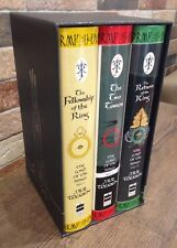 LORD OF THE RINGS BOXED SET HARPER COLLINS. 3 HARDBACKS WITH DUSTJACKETS - 1998