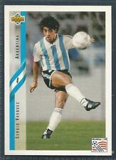 UPPER DECK WORLD CUP USA 1994- #199-ARGENTINA-SERGIO VASQUEZ