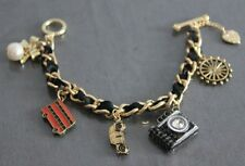 B35 BETSEY JOHNSON London Collection 2 ~ Bus, Taxi, Camera, Helm Bracelet US