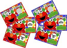 ELMO PERSONLIZED SCRATCH OFF OFFS PARTY GAME GAMES CARDS BIRTHDAY FAVORS