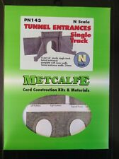 Metcalfe Kit PN143. Tunnel Entrances. Single Track.  N Scale.
