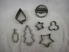 7 Vintage Holiday Tin Cookie Cutters