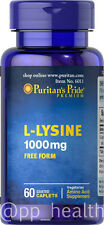 Puritan's Pride L-Lysine 1000 mg Support Skin and Bone Health Made in USA
