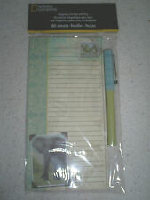 """8""""x4"""" Magnetic List Pad&Pen of National Geographic Photo of African Elephant"""