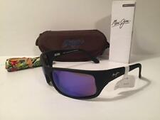 New Maui Jim Peahi Polarized Sunglasses  Black/Blue Hawaii Mirror Glass 202-2M