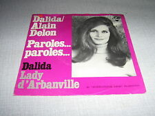 DALIDA ALAIN DELON 45 TOURS HOLLANDE PAROLES PAROLES