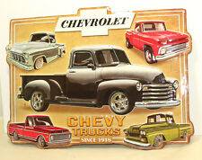 CHEVROLET TRUCK CHEVY HOT ROD Embossed Distressed Vintage Style Metal Signs Dad