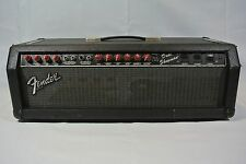 1987-92 Fender Dual Showman Red Knobs Blackface Amplifier Head - Tested!