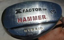 USED - X Factor Hammer Hybrid 20 degrees 3 Wood with Smart Shaft