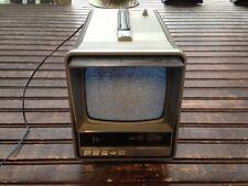 Vintage Zenith Portable 6-Inch Black & White Television TV & Radio Model BTO55S