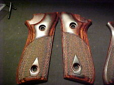 Taurus PT 92 99 Beautiful Fine Rosewood Auto Pistol Grips Fancy Checkered Decock