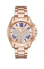 Michael Kors Bradshaw Chronograph Rose Gold Bracelet Watch NWT Glitz MK6321 $295