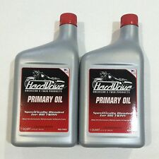 Hard Drive Primary Case Oil Lube Fluid (2) 1 Quart Bottles for Harley Big Twins