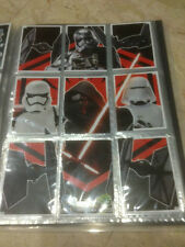 STAR WARS Force Awakens - Force Attax Trading Card #152 to 160 Puzzle Set