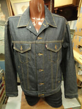 VTG LEVI'S DENIM TRUCKER JACKET MEN'S L DARK BLUE 70516  JEANS COTTON 1990'S