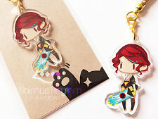 Crystal Clear Acrylic straps charm: Transistor Red game