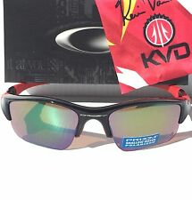 NEW Oakley Flak Jacket POLARIZED XLJ KVD ANGLER Shallow Water Blue PRIZM 9009-10