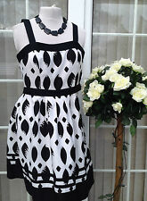 NEXT Size 12 Black and white Dress  Races Wedding Christening Party work