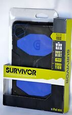 NEW  Survivor Military Rugged Case For iPad Mini Black  and Royal Blue