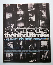 OASIS - HINDU TIMES - 2002  MUSIC ADVERT POSTER SIZE 34 x 27 cm