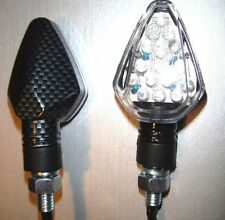 4X CAGIVA Aletta Electra,Oro,Elefant 650, 350 LED MICRO Turn signal Bike CARBON