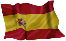 SPAIN FLAG DECAL 2014 STYLE SIZE 300MM BY 189MM