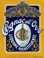 """C. BELLONI - MILANO """" COGNAC all'Ovo """" - LIQUORE RICOSTITUENTE"""