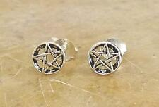 RAD STERLING SILVER PENTACLE STUD EARRINGS  style# st08
