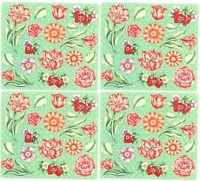 Frances Meyer FLORAL Flowers Roses Strawberry Scrapbook Stickers 4 Sheets