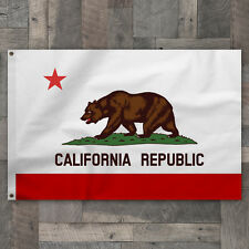 100% Cotton 4x6 Sewn Stripe California Republic State Flag Pennant Made in USA