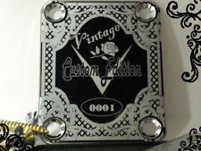 Chrome Vintage 2 Engraved Guitar Neck Plate  fits Fender tele/strat/squier