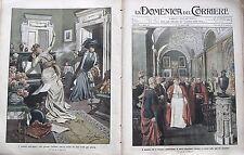 Domenica del corriere 1909-14 PAPA PIO X INAUGURA LA NUOVA PINACOTECA VATICANA