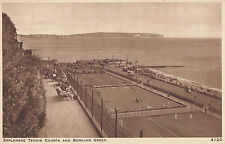 SHANKLIN ( Isle of Wight) :  Esplanade,Tennis Courts and Bowling Green-NIGH