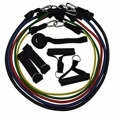 CLAD Resistance Band Set with Door Anchor, Ankle Straps, Band Handles and Band