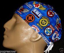 EMERGENCY / EMS / RESCUE SQUAD / PARAMEDIC /  TRAUMA SCRUB HAT / FREE SIZING