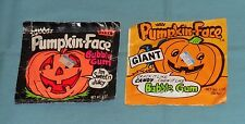 vintage Fleer PUMPKIN-FACE BUBBLE GUM lot of 2 sealed packages