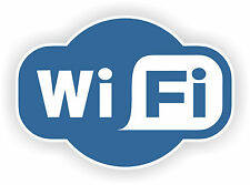 2 x WI FI Sign Symbol Shop Business Vinyl Sticker 150mm x 100mm