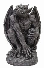 Perching on Rock Winged Gargoyle Guardian Figurine Statue Sculpture.Gorgeous.New