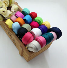 17pcs Mixed Colour Grosgrain Ribbon For Gift Bow Crafts DIY Decor 9mm 1Yard
