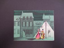 #K398- Vintage Unused Xmas Greeting Card Victorian Carolers Singing Under Light